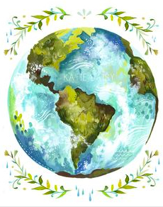 """Dear Earth"" by Katie Daisy via etsy"
